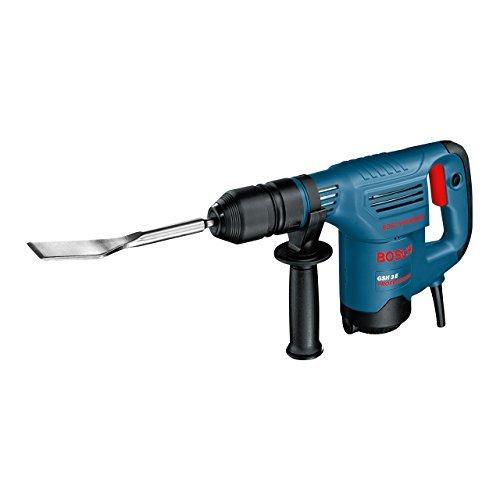 Bosch Professional GSH 3 E, 650 W Nennaufnahmeleistung, 2,6 J Schlagenergie, 0 – 3.500 min-1 Schlagzahl, Fliesenmeißel, Koffer, Spitzmeißel, Zusatzhandgriff